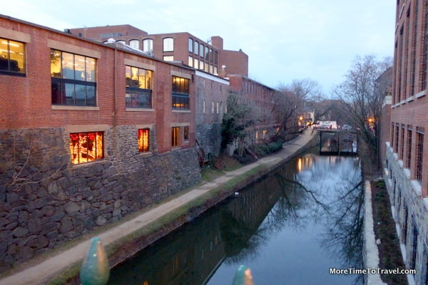 View of the C&O Canal in Georgetown