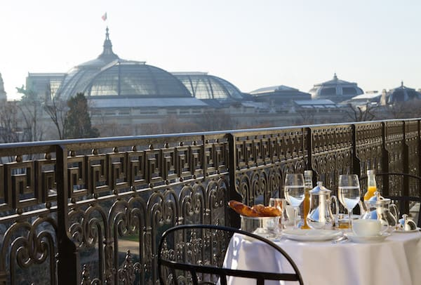 Breakfast with a view at La Reserve Paris