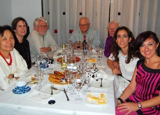 Social dining in Madrid (Photo credit: Josie Schneider)