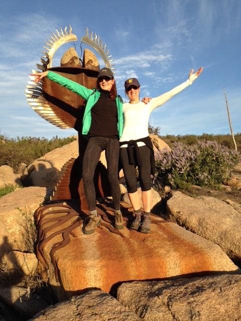 Author Sheryl Kraft hiking with her friend, Robin