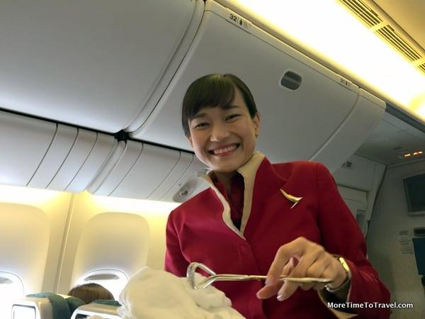 Kay, one of the lovely flight attendants