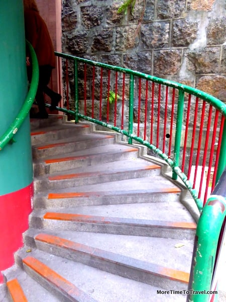Winding staircase to the Temple