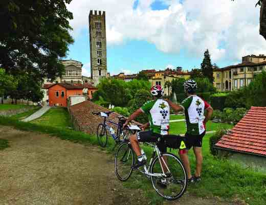 Bicycling from Pisa to Lucca
