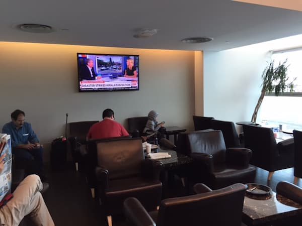 TV Viewing area at the Wingtips Lounge