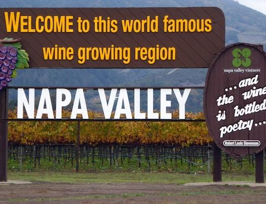 One of two photogenic Welcome Napa Signs on Route 29; one is in Oakville and the other in Calistoga