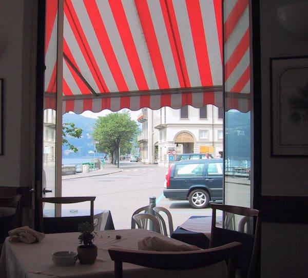 The restaurant in Como