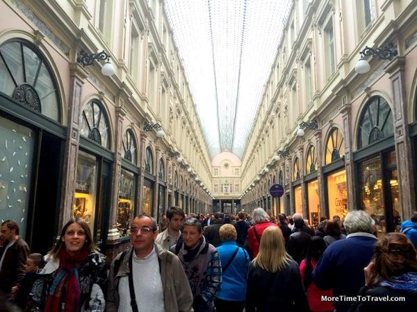 Galeries Royales Saint-Hubert in Brussels (that predated the Galleria in Milan)