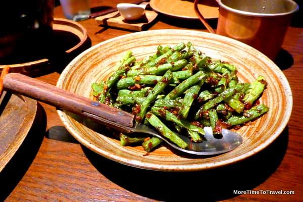 Stir-fried string beans