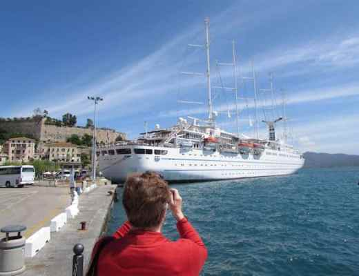 Wind Surf docked in Elba (credit: John and Sandra Nowlan)