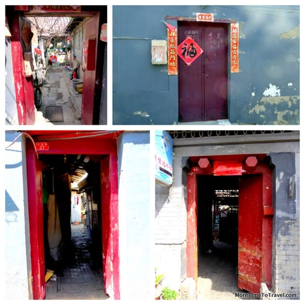 Traditional hutong doors