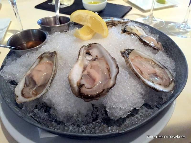 At White Elephant, locally cultivated and harvested oysters are served at Topper's