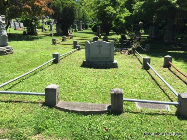 Families once demarcated their family plots with iron rails