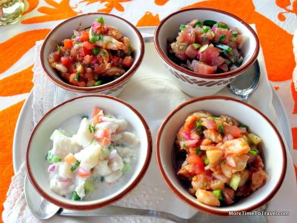 Ceviche at Tequila Tasting at Las Ventanas al Paraiso, Los Cabos
