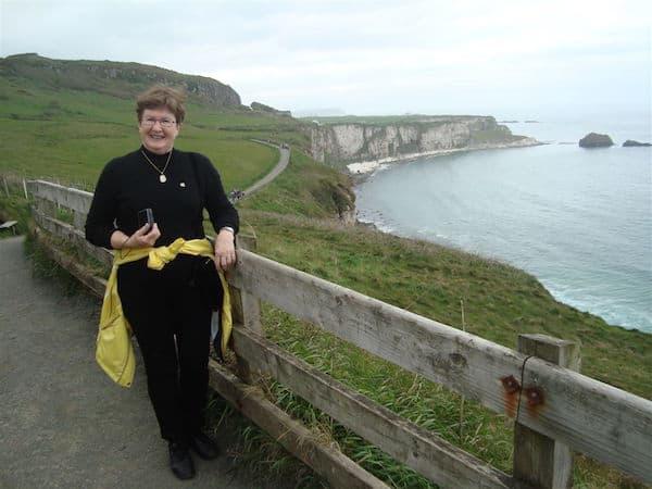 Sandra Nowlan on the Northern Ireland coast