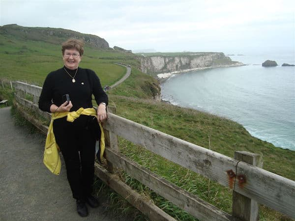 Sandra Nowlan on the Northern Ireland coast