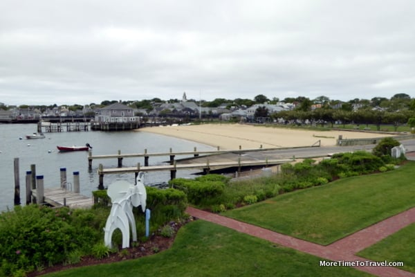View from one of our windows overlooking Nantucket Harbor