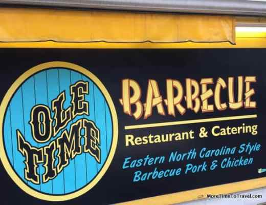Sign outside Ole Time Barbecue