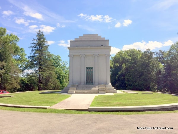 Mausoleum of oil tycoon William Avery Rockefeller, older brother of John D. Rockefeller at Sleepy Hollow Cemetery