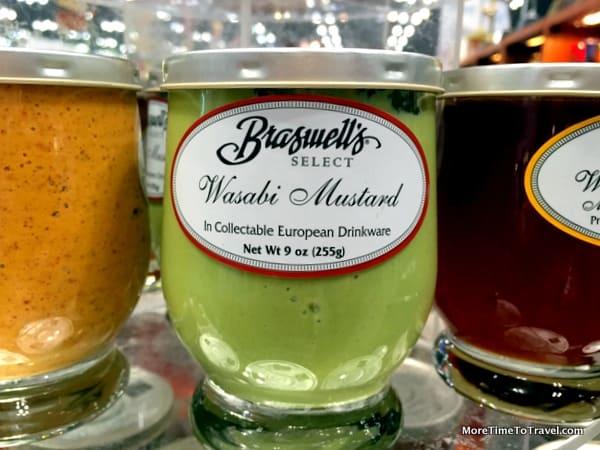 Honey and balsamic mustard have given way to wasabi mustard