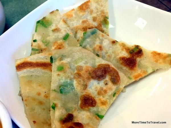 Chinese scallion pancakes at My Dumpling in Milpitas