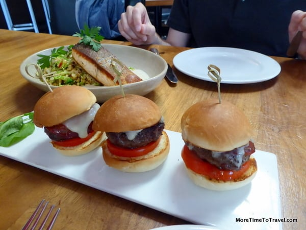Sliders at Joya, a Latin-American restaurant in Palo Alto