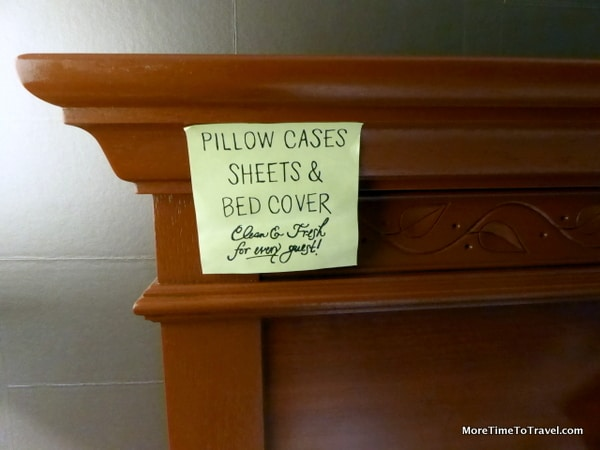 Pillow sheets and BED COVERS clean and fresh daily at Hampton by HIlton
