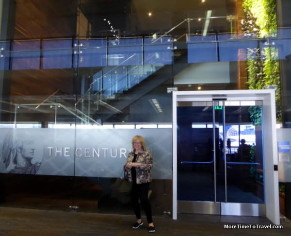 Dramatic entrance to the Centurion Lounge at SFO