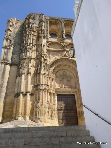 Sandstone exterior of Basílica de Santa María de la Asunción