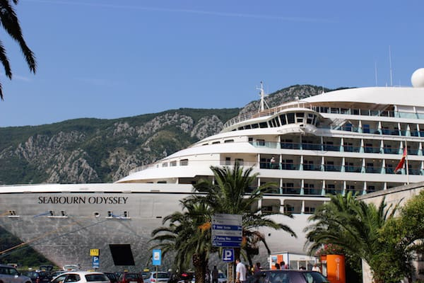 Seabourn Odyssey at the port in Kotor, Montenegro (Credit: Maureen Hudson)