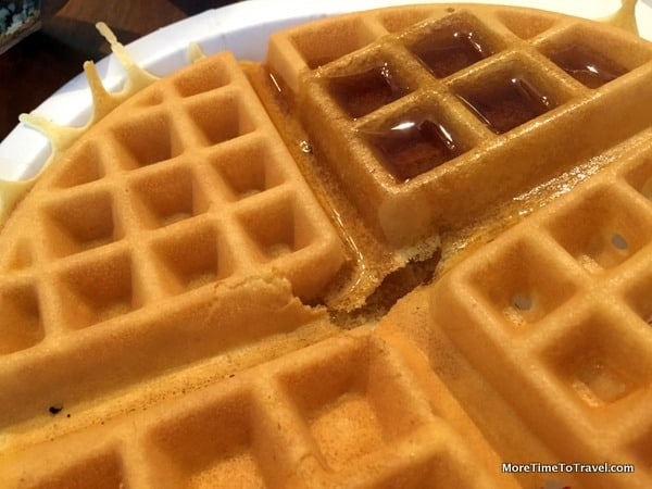 Fresh, fluffy waffles