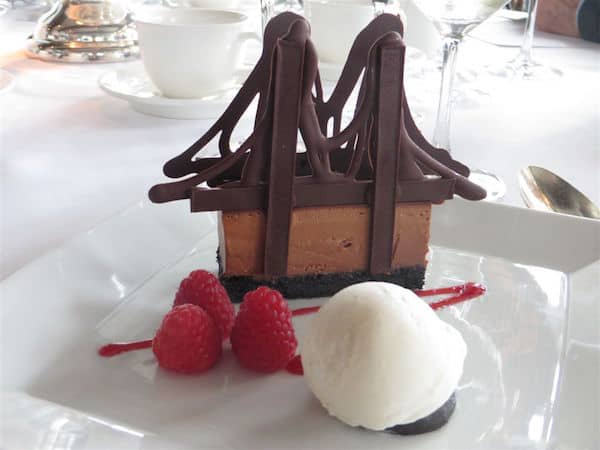Dessert at the River Cafe