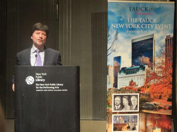 Ken Burns addresses the Tauck group