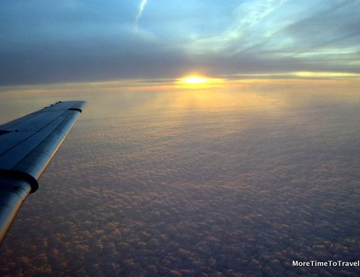 Above the clouds on the Fokker 70
