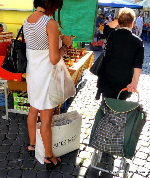 The market is a destination for young and older townspeople.