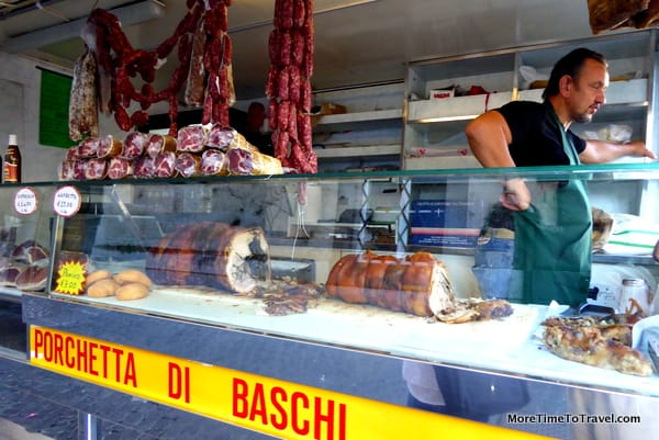 The porchetta truck before the lines form