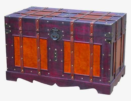 Contemporary steamer trunk (available at Target)