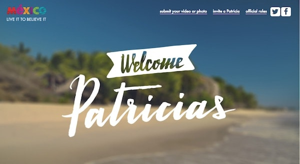 Welcome Patricias (from the Mexico Tourism Board)