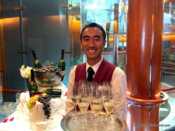 Welcome onboard champagne cocktails