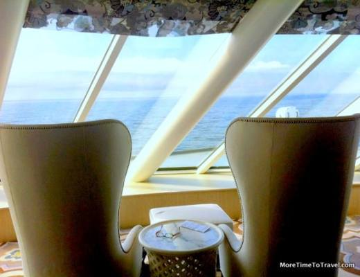 A comfy spot to read on the Crystal Symphony
