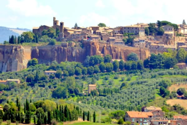 View of Orvieto poised on the tufa