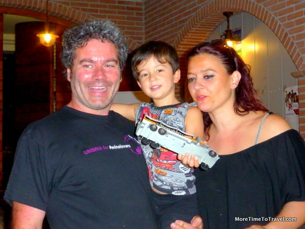 Fourth-generation winemaker Roberto Dionigi with his wife Carolina and son Diego