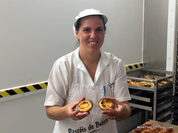 One of the proud pastry women in the bakery