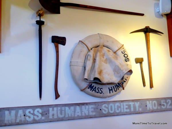 Artifact display at Shipwreck and LIfesaving Museum