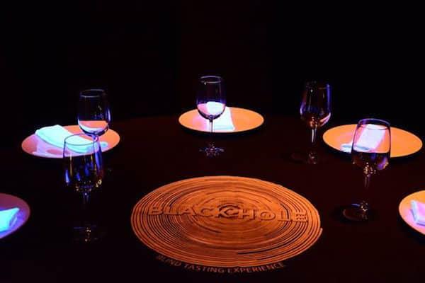 Table setting at The Black Hole at Grand Oasis Sens (Credit: Oasis Hotels & Resorts)