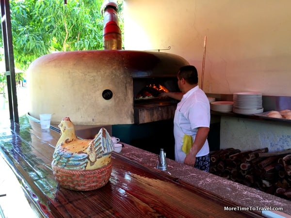 Wood-fired oven at Flora Farm