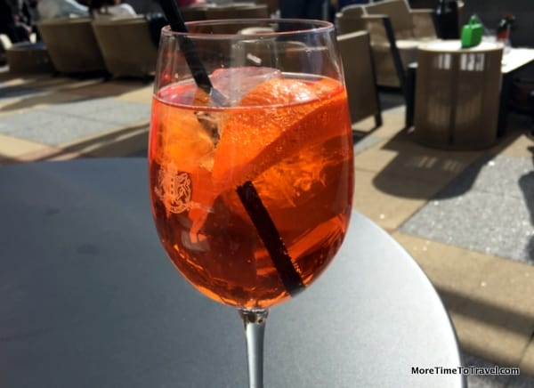 An orange spritz on King's Day in Amsterdam