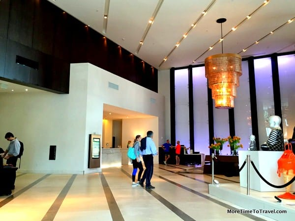 Contemporary lobby, EPIC, a Kimpton Hotel