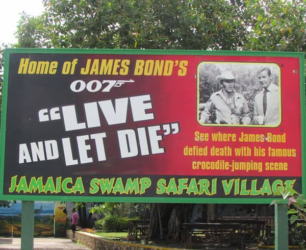 "Film site of James Bond's ""Live and Let Die"" (Credit: John and Sandra Nowlan)"