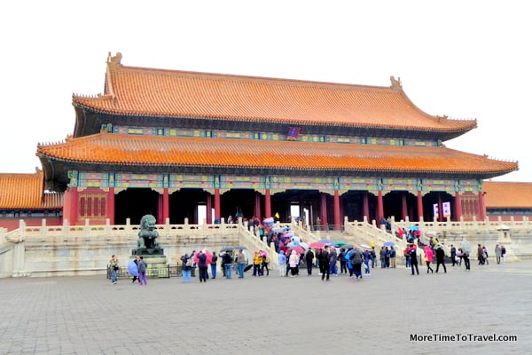 Gate of Supreme Harmony in the Forbidden City in Beijing