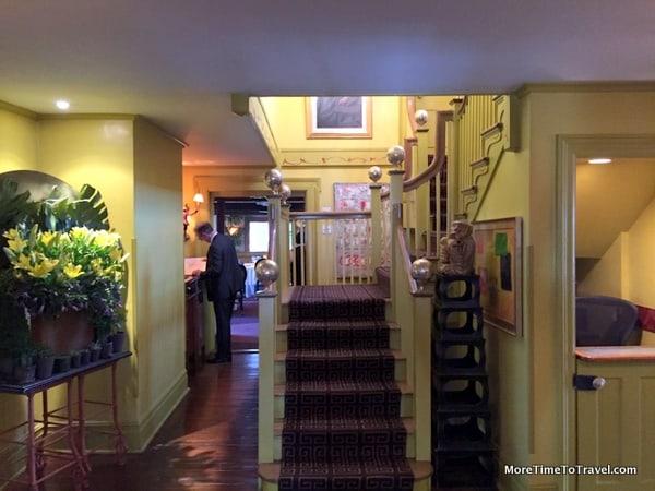 Entrance to the Homestead Inn dining room with fresh floors